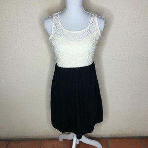 NWT Speechless Dress Black White A-Line Lace